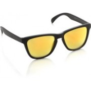 Joe Black Wayfarer Sunglasses(Yellow, Red)