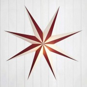 Decorative paper star Alva red and white