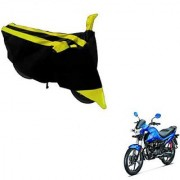 Intenzo Premium Yellow and Black Two Wheeler Cover for Honda Livo