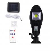 Lampa solara stradala MRG A-JX-256, Panou solar, Cu telecomanda, Negru