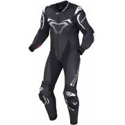 Macna Voltage one piece leather suit Black White 56
