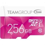 Карта памет Team Group Color microSDXC 256GB, UHS-I Class 10 + SD Адаптер