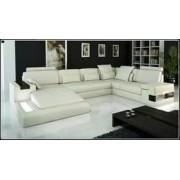 items-france ORANA - Canape cuir 5/6 places 195x389x255