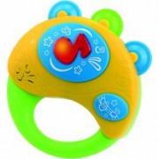 Jucarie muzicala pentru copii Little Learner - Prima mea tamburina 12 luni + Joc de carti Domino Cadou
