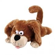 Ruhiku GW Funny Animated Plush Toy Dog/ Chimpanzee/ Elephant/ Doll Singing Stuffed Animal Soft Plush Kids Toys (Sloshing Induction Roll Around Scream Dog)