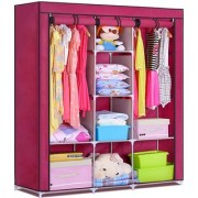 Homebasics 3 Door 88130 FOLDING WARDROBE CUPBOARD ALMIRAH Best Quality