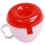 BEGMY Plastic Microwave EZ Folding Bowl Popcorn Maker 500 ml Popcorn Maker(Red)