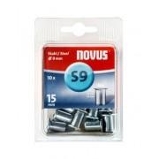 Novus popszegecs-anya M6 S9 x 14.5 acél 0.5-2.0 10DB