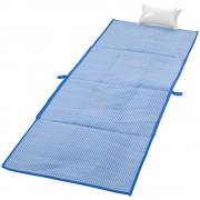 Rogojina pliabila pentru plaja 170x60 cm, Everestus, BI02, pp plastic, albastru inchis, saculet inclus