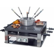 Gratar electric multifunctional Solis 796 CombiGrill 3in1 functie de raclette fondue si grill Premium Class 8 persoane 1200 W 2 sisteme