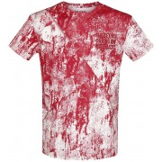 Texas Chainsaw Massacre Blood T-shirt wit-rood