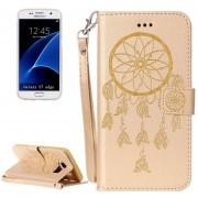 Para Samsung Galaxy S7 EDGE / G935 Dream Catcher Impresión Horizontal Flip Funda De Cuero Con Soporte Y Ranuras Para Tarjetas Y Billetera Y Lanyard (oro)