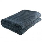 Nord Snow Ladder Style Merino Wool Blanket - Green