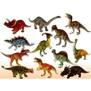 PLAY DESIGN Historic Dinosaurs Animals Toy 6 Pcs - 9 cm 10Cm Dinosaur Toys - Multi Color