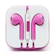 Casti Handsfree Stereo Cu Microfon Si Telecomanda iPhone iPad Samsung Huawei Universale Roz