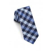 Ted Baker London Check Silk Blend Tie NAVY