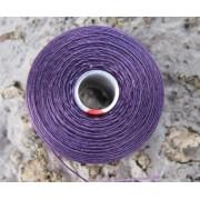 S- Lon bead thread - Purple / Lila, strl D, 1 rulle