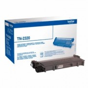 D'origine Brother TN-2320 toner noir, 2 600 pages, 2,51 centimes par page - remplace Brother TN2320 toner