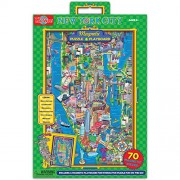 T.S. Shure Map of New York City Magnetic Playboard and Puzzle