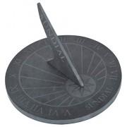 Esschert Design USA LS002 Reloj de Sol Redondo (Pizarra)