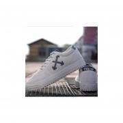Ocio Transpirable Zapatillas De Deporte Zapatos De Lona --Gris
