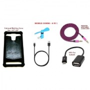 RAD SHOPPE MONEY SAVING DEAL ( 6 IN 1 COMBO ) - MOB COVER+MINI FAN+USB CABLE+OTG CABLE+AUX CABLE