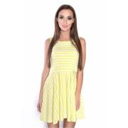 Dámské pruhované žluté šaty 2646