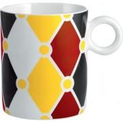 ceașcă de circ porțelan cu modele colorate