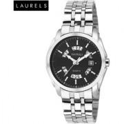 Laurels Aristocrat Black Dial Men Watch (Lo-Ast-502)