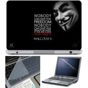 Finearts Laptop Skin Nobody With Screen Guard And Key Protector - Size 15.6 Inch
