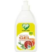 Detergent Gel pentru Vase cu Portocale Rosii Bio 500 mililitri Planet Pure