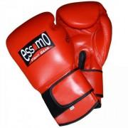 Essimo bokshandschoenen leer rood