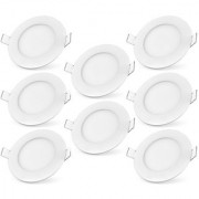 Bene LED 12w Round Panel Ceiling Light Color of LED Warm White (Yellow) (Pack of 8 Pcs)