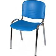 ISO Colorplast váró szék, krómozott vázzal.