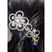 Гребенче-бижу за коса белгийски кристали Duo Flowers