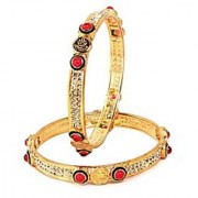 VK Jewels Lord Lamxi Gold Plated Bangles- BG1034G