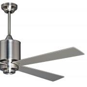 KlassFan Ceiling Fan 132 Cm Brushed Chrome, Remote Control And Led Spotlight