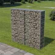 vidaXL Perete gabion cu capace, oțel galvanizat, 100 x 20 x 100 cm