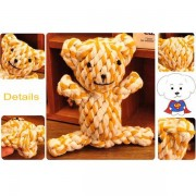 Pet Toy Braided Bear Chew Knot Strong Cotton Rope Dog Puppy Play Cute Lovely FunTeeth