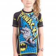 Fusion Fight Gear Kid's Batman Thwack Short Sleeve Rashguard violet...