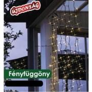 Fényfüggöny díszvilágítás 0,9x2m 192db meleg fehér LED KDL 144