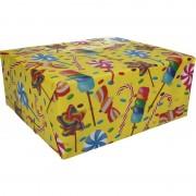 Shoppartners Inpakpapier snoepjes motief 200 x 70 cm op rol