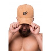 Jed North Snapback Hat Brown Suede HAT001