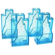 LEGO Frozen Items Set of 4 Glitter Ice Rock Walls [Trans Aqua Loose]