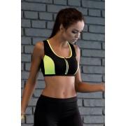 Sutien fitness cu fermoar Bety neon S