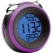 Mebus 26398 black/lila Quarz Alarm Clock