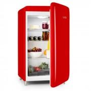 PopArt-Bar Rosso Frigorifero 136l Design Retrò 3 Piani Scomparto verdure A+