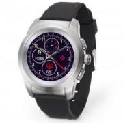 Хибриден смарт часовник MyKronoz ZeTime Original Silver/Black, силиконова черна каишка, KRON-ZETIME-REG-BLACK