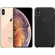 Apple iPhone Xs 512 GB Goud + Silicone Back Cover