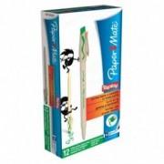 Papermate Penna a sfera cancellabile replay - verde - 1 mm - confezione da 12 penne